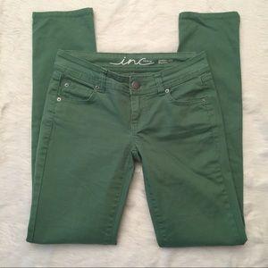 INC Skinny Leg Green Jeans
